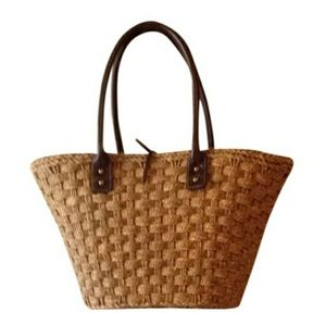 J. Crew Woven Straw Beach Bag